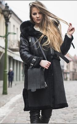 Mažas odinis rankinukas moterims