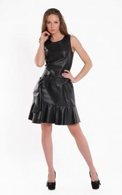 Stilinga, natūralios odos suknelė